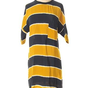 Zara basic striped t-shirt dress
